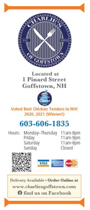 Charlie's 566 Mast Road Goffstown, NH